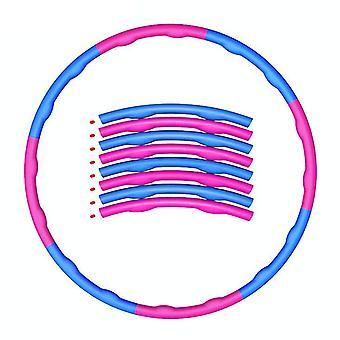 Rose et bleu lesté pliable hula hoop abdominal entraîneur fitness hula pour adultes 1.2kg 8 nœuds az8224