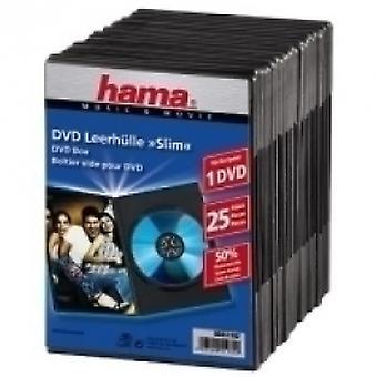 Hama DVD Slim Box 25, Noir - 00051182