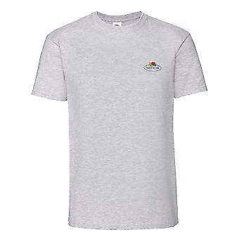 Fruit of the Loom Mens Vintage Small Logo Heather T-Shirt