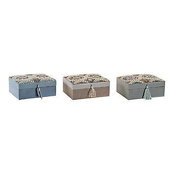 ジュエリーボックス DKD ホーム デコール コットンフォーク(3個) (19 x 15 x 8 cm)