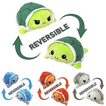 Reversibel Ny type plys legetøj flip udstoppede skildpadde vendbar dukke flip legetøj Cute Simulation Plys