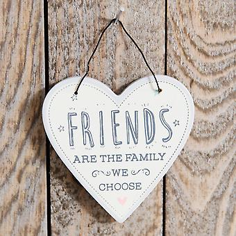 Love Life Heart Plaque - Friends Are...