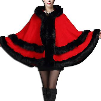 Faux Fur Worsted Cloak For Girls