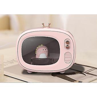 Tv Cute Pet Humidifier Portable Mini Mute Cartoon Moisturizing Spray(Pink)