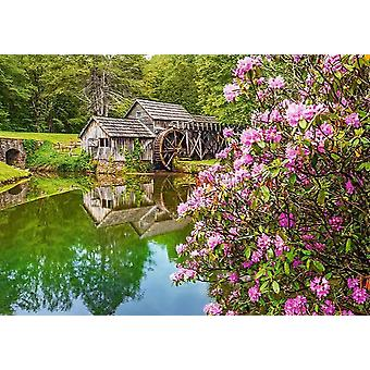 Castorland Mill by the Pond Jigsaw Puzzle (500 Pieces)