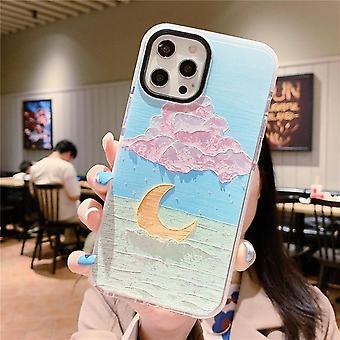 Retro taide öljy maalaus kukka puhelin kotelo iphone 12 mini 11 pro xs max xr x 7 8 plus vesiväri kukka tpu takakansi naiset
