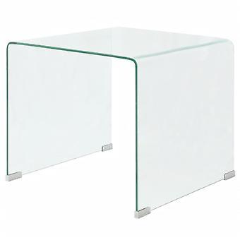 vidaXL härdat soffbord i glas 49,5 x 50 x 45 cm Transparent