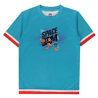 Space Jam Kids Daffy Duck T-Shirt Juniors Short Sleeve Performance T Shirt Top