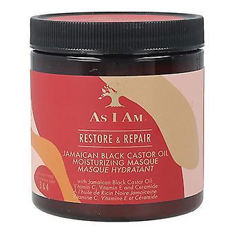 استعادة قناع الشعر وإصلاح الجامايكي زيت الخروع الأسود كما أنا (227 غرام)