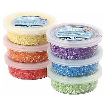 6 felle Metallic kleur Foam Clay Bad Set voor Kids & volwassenen modellering van ambachten