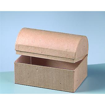 15cm Small Paper Mache Schatkist te versieren | Papier Mache Dozen