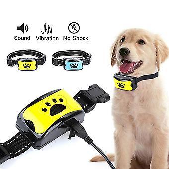 Vandtæt Pet Hund Anti Bark Krave Control Train USB genopladelig farve gul