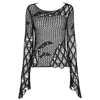 Punk Rave Daria Hollow Flare Knitted Top