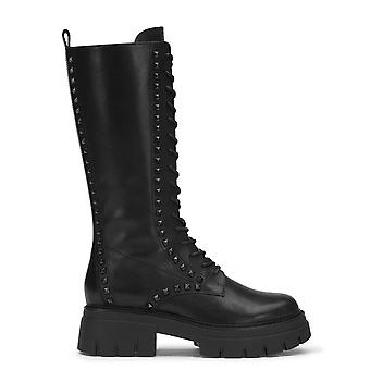 Ash LULLABY STUDS Lace Up Black Leather Boots