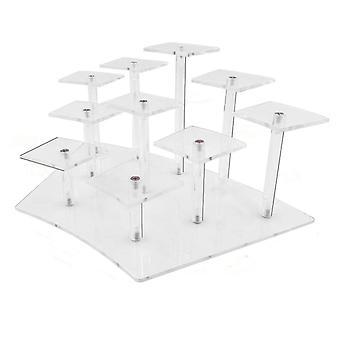 Jewelry Display Stand Doll Figurine Rack Cake Dessert Storage Rack Ladder Shelf Home Organizer