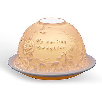 Light Glow Dome Tealight Holder, Darling Daughter