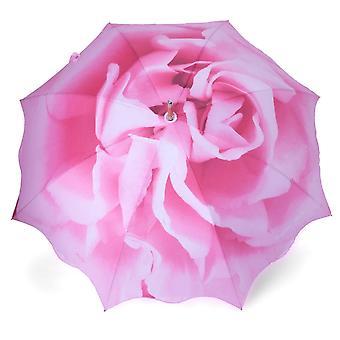 Umbrella stick umbrella subject rose pink
