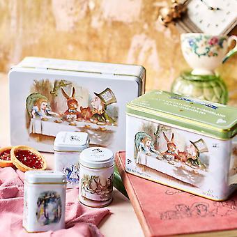 Alice in wonderland english tea tin collectors gift