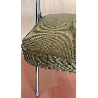 Medieval backrest folding chair corduroy vintage dining chair