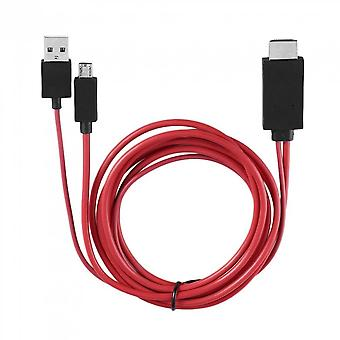 Professional Mhl 1080p Micro Usb To Hdmi Cable With 11 Pin For Samsung Galaxy S1-4 Note1-4 S4 I9500 S3 I9300