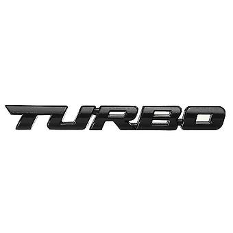 Outdoor chairs turbo 3d metal car decals lettering badge sticker for auto body rear tailgate black color