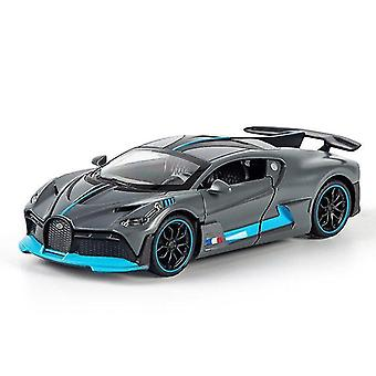 Toy cars 1/32 alloy bugatti divo super sports car model toy die cast pull back sound light toys vehicle