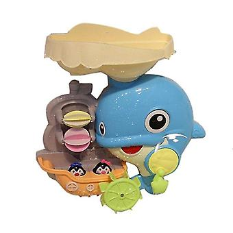 Bath toys bath toys dolphin waterfall station bathtub tub bath time water toy christmas gift for toddlers kids baby