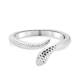 TJC Női Kígyó Gyűrű Sterling Ezüst Fényes Bélyegzett Ékszerek Valentin Ajándék (ok)