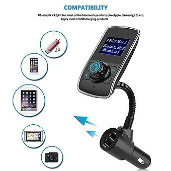 Wireless In-car Bluetooth Fm Transmitter Radio Adapter Car Kit Usb Car Charger