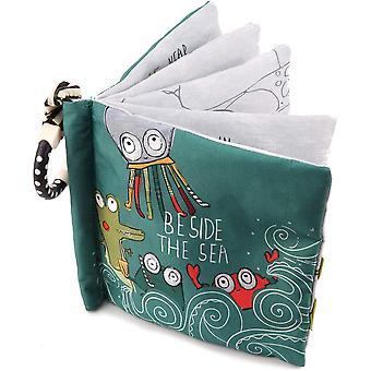 Crinkle كتب القماش الطفل للأطفال الصغار، غير اللقم لينة النسيج الطفل التعليمية تعلم الكتب ل 0 - 6 أشهر / سنة واحدة عيد ميلاد حزب (