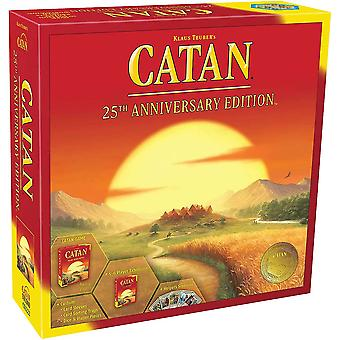 Catan Board Game 25th Anniversary Edition   Includes Basic Game And 5-6 Player Expansion   Family Board Game   Adult And Family Board Game   3 To 6 Pl