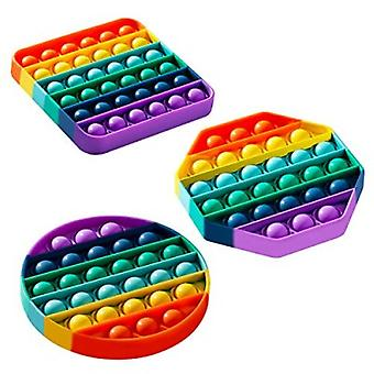 Silicone Stress Fidget Sensory Toy For Adults And Kids And Friends 3 Pack
