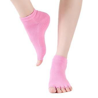 Yoga Socken Pilates Barre Tanz Ballett Non Slip Toeless Half Toe Socks