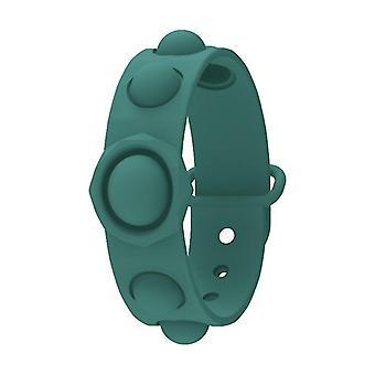 Fun Finger Bubble Musik Silikon Squeeze Sport Armband (Grün)