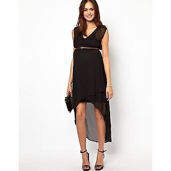 Mamalicious Hilow klänning med bälte UK storlek L