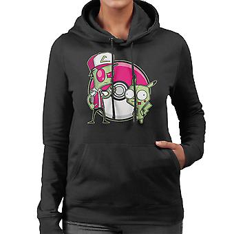 PoGIRmon Invader Zim Pokemon vrouwen Hooded Sweatshirt