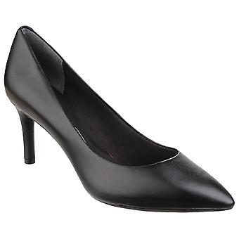 Rockport Womens Total Motion Point Toe Stiletto Shoe Black Patent