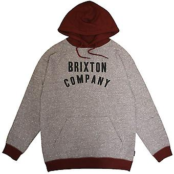 Brixton Barstow Pullover huppari harmaa Burgundi