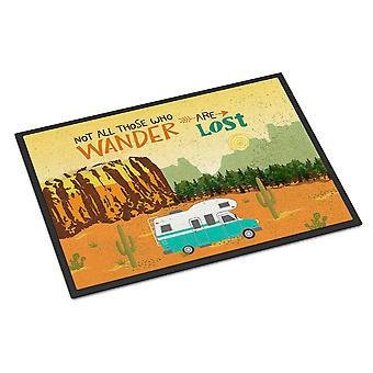 RV Camper Camping Wander Indoor or Outdoor Mat 18x27