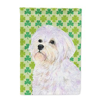 Carolines Treasures  SS4412-FLAG-PARENT Maltese St. Patrick's Day Shamrock Portr