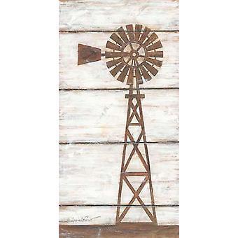 Farmhouse Windmill II Poster Print by Annie LaPoint (9 x 18)
