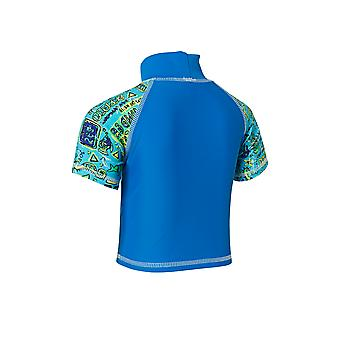 Zoggs Kids Deep Sea Sun Protection Swim Top Blue/Green for 1-6 Years Children