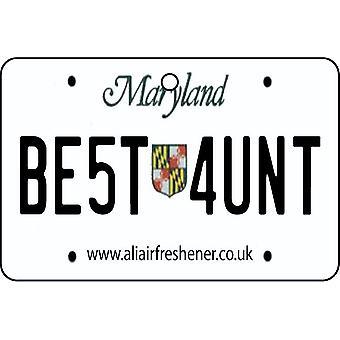 Maryland - beste tante License Plate auto luchtverfrisser