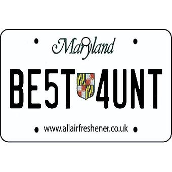 Maryland - beste tante lisens Plate bil Air Freshener