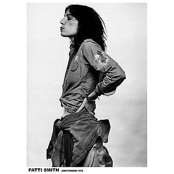 Patti Smith Profile Poster Poster Print