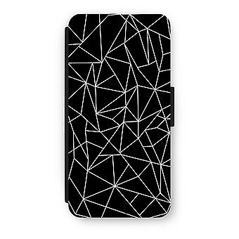 iPhone 7 Flip Case - Geometric lines white