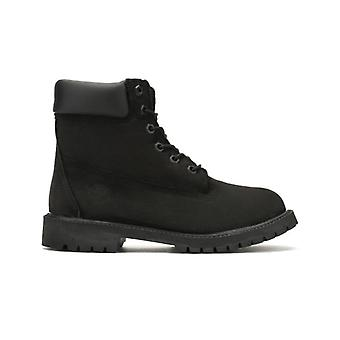 Timberland 6 Inch Premium Waterproof Black Junior Boots