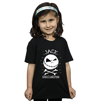 Disney Girls Nightmare Before Christmas Jack Face T-Shirt