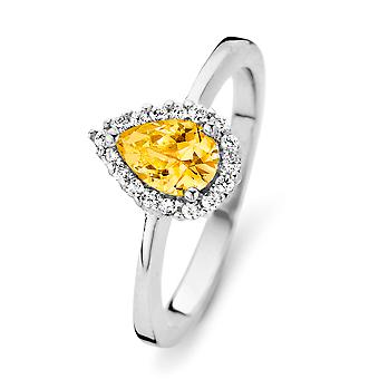 Orphelia Silver 925 Ring Drop Citrin kleur zirkonium ZR-7226/CI