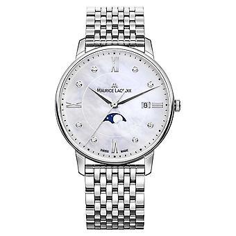 Maurice Lacroix Womens Eliros Moonphase mère de maille Perle Bracelet Watch EL1096-SS002-170-1